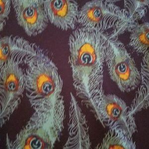 LuLaRoe Tops - Lularoe Perfect Tee-- Peacock Feathers